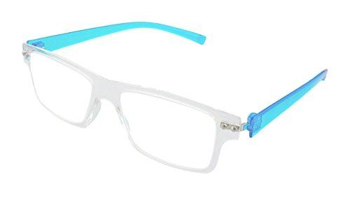 Edison & King Lesebrille mit Flexbügeln in verschiedenen Farben und Stärken - Nerdbrille -...