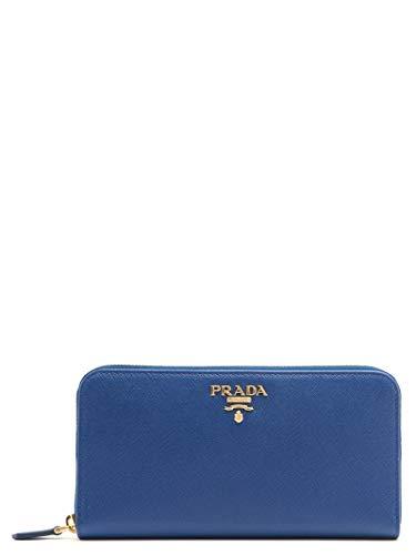 Prada portafoglio donna 1ml506qwaf0016 pelle blu