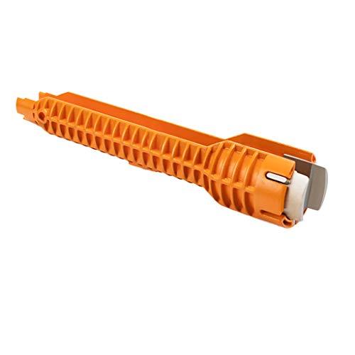 FiedFikt Multifunktionaler Wasserhahn- und Spüle-Installationsschlüssel, Anti-Rutsch-Griff, Werkzeug Sanitär-Schraubenschlüssel -