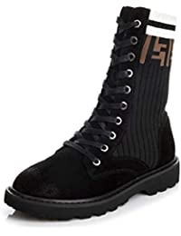 8307bcf070f1cd SHANGWU Women s Knit Winter Fashion Anti-Rutsch-Stiefel New Martin Stiefel  British Wind Kurze