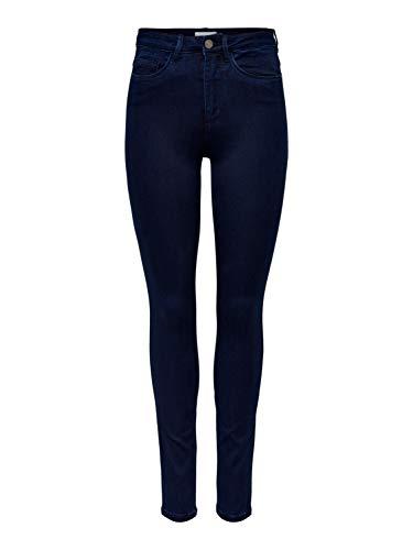 ONLY Damen ROYAL HIGH SKINNY JEANS PIM101 NOOS Jeanshose, Blau (Dark Blue Denim), 36/L34 (Herstellergröße: S)