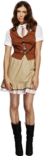 Smiffy's 43483M - Fever Sheriff-Kostüm mit Weste Mock Shirt Rock und Hals-Bindung (Mock Hals)