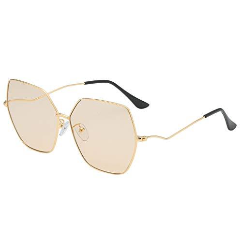 CANDLLY Brillen Damen, Kopfschmuck Zubehör Mode Unisex Jahrgang Metall Sonnenbrillen Spiegel Persönlichkeit Brillengestell Sonnenbrille mit unregelmäßiger Form Retro-Stil Brille Trend Punk Wind