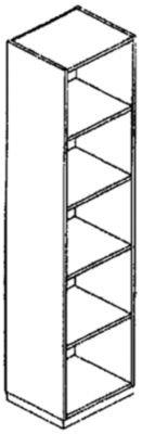 SEQUENZ Regal - 4 Fachböden, Breite 600 mm - Buche-Dekor - Aktenregal Akteregale Büroregal Ordnerregal SEQUENZ SEQUENZ Büromöbelprogramm FERRO Büromöbelprogramm