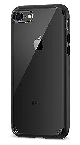 Coque iPhone 8, Coque iPhone 7 / 8, Spigen® [Ultra Hybrid 2eme generation] AIR CUSHION [Noir] Clear back panel + TPU bumper Coque Pour iPhone 7 (2016) / iPhone 8 (2017) - (042CS20926)