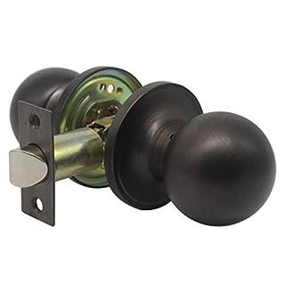 Probrico Stainless Steel Passage Keyless Door Lock Set Interior Door Knob Antique Oil Rubbed Bronze