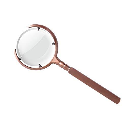 Lente d'ingrandimento portatile 10x lenti in vetro ottico ad alta trasparenza lente d'ingrandimento costruzione in metallo per anziani, hobby, riparazione, osservazione - 60mm