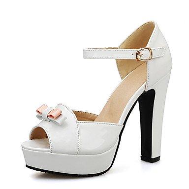 LvYuan Damen-Sandalen-Hochzeit Kleid Party & Festivität-Lackleder-Blockabsatz-Andere Club-Schuhe-Schwarz Rosa Rot Weiß White