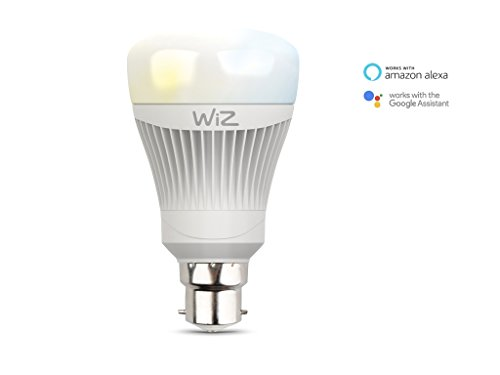WiZ Whites WiFi Connected Smart LED a bulbo B22. Dimmerabile, 64 000 tonalità di bianco. Funziona con Amazon Alexa e Google Home.