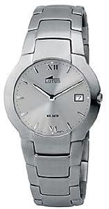 LOTUS 9913/3 - Reloj caballero acero esfera gris.