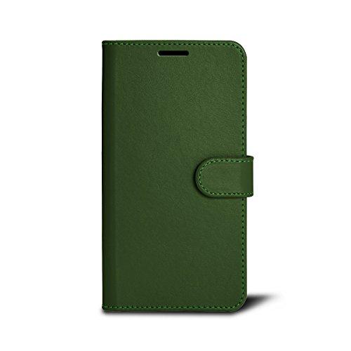 Lucrin - Schutzhülle für das iPhone 7 Plus - Rot - Glattleder Hellgrün