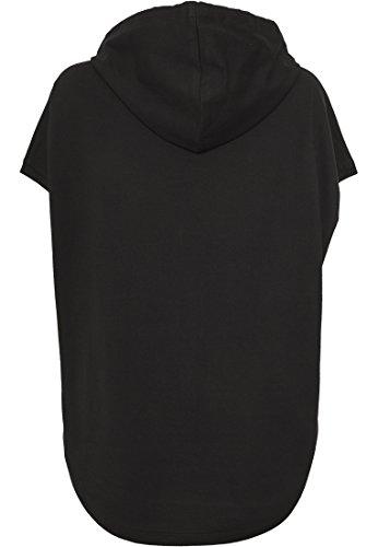 Urban Classics - Sweat à capuche - Uni - Manches Courtes - Femme Noir Noir Noir - Noir