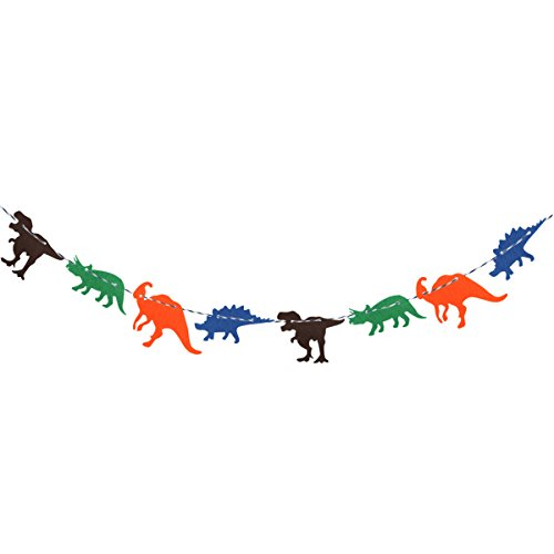 Tinksky Cute Dinosaur Flag Creative Garland Banner Birthday Party Room Decoration Supplies 3 m