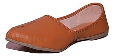 Leadro Men's Tan Leather Jutti - 10