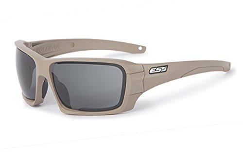 ESS Sonnenbrille Bügel Terrain Tan Rapid Objektiv Exchange klar Smoke Gray Objektiv