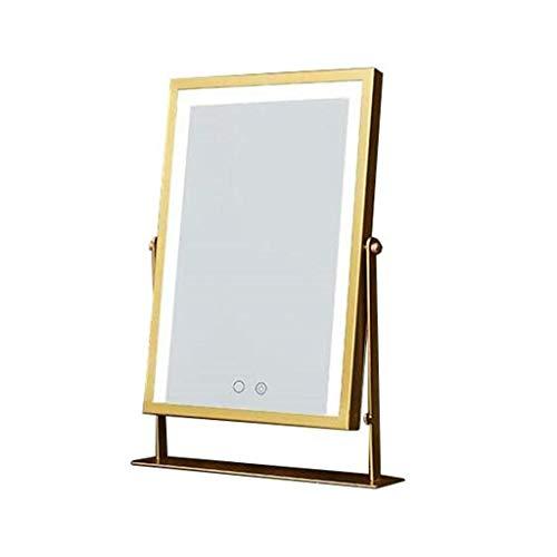Mirror Desktop-Kosmetikspiegel mit LED-Leuchten Hollywood Smart Touch dimmbare Lampe Heller und Warmer drehbarer dekorativer Spiegel LITL
