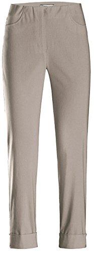 Stehmann IGOR-680 14060-402, sportive Damenhose mit aufgesetzten Taschen und Aufschlag, 6/8 Länge, Größe 42, Farbe Bambus (Tasche Damen Bambus)