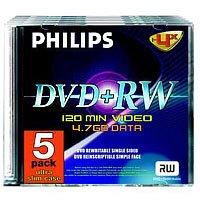 Philips 4x - DVD+RW Rohlinge 4.7GB 5er Pack Slimcase