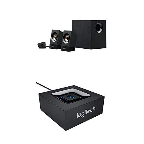 Logitech Z533 kit d'enceintes multimédia avec caisson de basse 120 W Noir + Adaptateur Audio bluetooth pour Haut-parleurs PC/Système stéréo/Récepteur A/V Noir (980-000912)
