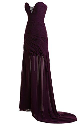 ivyd ressing robe simple ligne Étui Cœur de la découpe Prom Lave-vaisselle robe robe du soir Traube