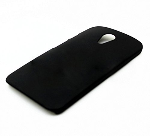 WOW Imagine Matte Hard Case Back Cover For Motorola Moto G 2nd Gen (Pitch Black)