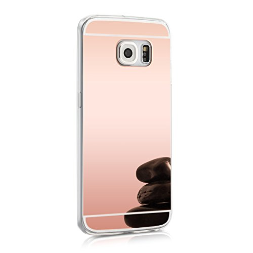 kwmobile-spiegel-hlle-fr-samsung-galaxy-s6-edge-tpu-silikon-case-handy-cover-schutzhlle-in-rosegold-