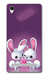 SEI HEI KI Designer Back Cover For Intex Aqua Power Plus - Multicolor