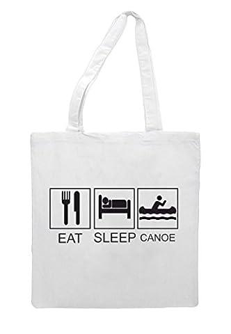 Eat Sleep Canoe Tiles Funny Hobby Activity Sublimation Tote Bag