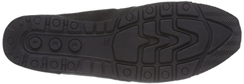 Caprice 23651 Damen Sneakers Schwarz (BLK NUB/SILVER 096)