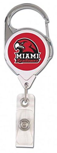 Miami von Ohio Redhawks Premium Badge Reel ID Holder -
