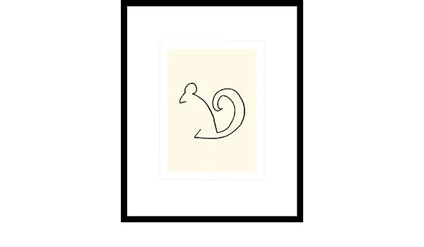 Pablo Picasso Eichhörnchen Poster Kunstdruck Siebdruck im Alu Rahmen 60x50cm