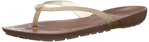 Crocs Women's Really Sexi Bronze and Bronze Rubber Flip-Flops and House Slippers - W5  available at amazon for Rs.1900