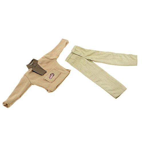D DOLITY 1/6 Soldat Puppen Kleidung - Feuerwehr Mann Uniform Armee Kostüm Anzug - # B (Armee Kostüme Für Männer)
