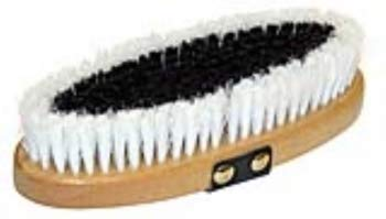 Kerbl 3243 Kardätsche Brush&Co, Holzrücken Handschlaufe, Fellpflege Pferdepflege
