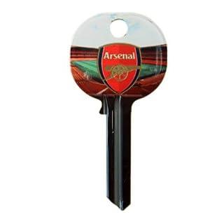 Arsenal F.C. TÜRSCHLÜSSEL SD-, blanko, key auf beiden sides- ca. 65 x 32 x 32 mm, auf einer Unterlage card- Offizielles Fußball-Merchandising-Produkt