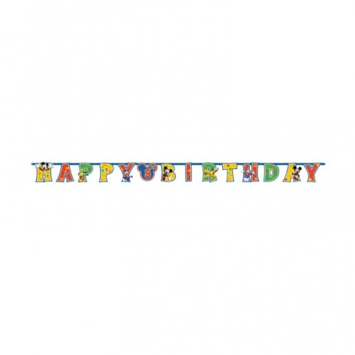 Micky Maus Girlande auswechselbare Zahl (Mickey Geburtstag Zahl)