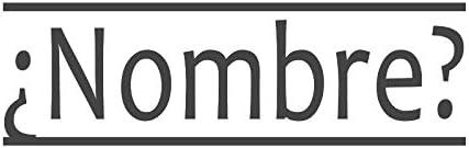 ¿Nombre ¿Nombre ¿Nombre avec des lignes parallèles, pré encrée en Español & Spanish Teacher Tampon (# 661604-c), style C Large   (58 x 18mm) Rouge B074P4MJRK a8f839