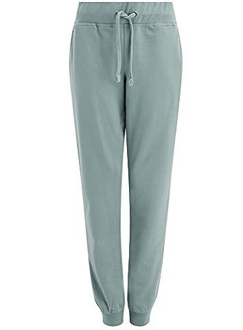 oodji Ultra Damen Jersey-Hose im Sport-Stil, Grün, DE 36 / EU 38 / S
