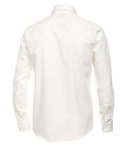 Casa Moda - Modern Fit - Bügelfreies Herren Business Hemd mit Extra langem Arm (69cm) in verschiedenen Farben (006569) Creme (002)