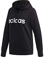 adidas Essentials Linear Over Head Hoodie, Sweatshirts Donna, Black/White, S 40-42