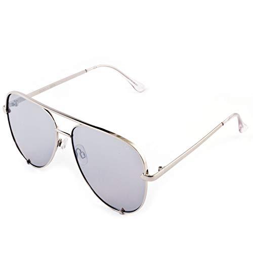 Quay Australia Damen Sonnenbrille High Key Silver Sonnenbrille