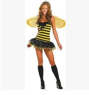 Gorgeous Bar Halloween- Kostüm-Parteikleid adult gelben Schmetterling Biene , #5 (Weibliche Kostüm Biene)