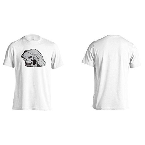 Cranio Diavolo Demone Dell'Arte Novità Epoca Uomo T-shirt pp59m White