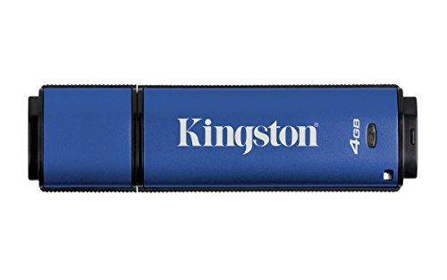Kingston DataTraveler Vault Privacy USB 3.0 4GB Pen Drive (Blue)