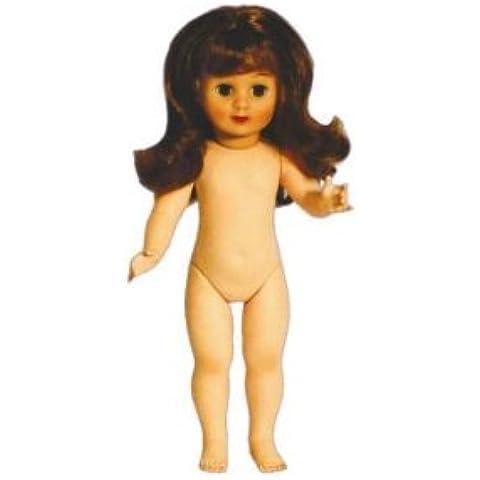 Petitcollin 40 cm Marie-Françoise desnuda de la muñeca con el pelo largo (rojo)