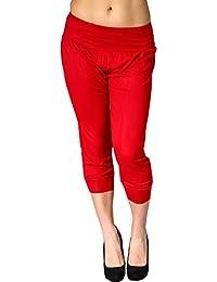 2a27620aa76f Générique Asbahfashion pour Femme 3 4 Harem Ali Baba Pantalon Short pour  Femme Uni Court