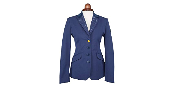 """Shires Aubrion Oaklawn Show Jacket Navy Bling 34"""" 36"""" 40"""" WAS £99.99"""