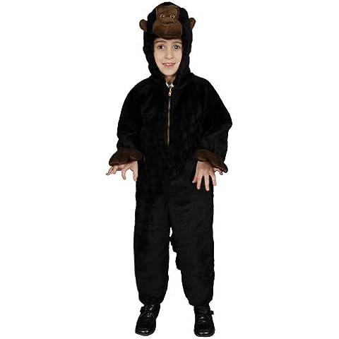 Dress Up America - Disfraz de gorila de peluche para niños, talla S, 4-6 años (380-S)