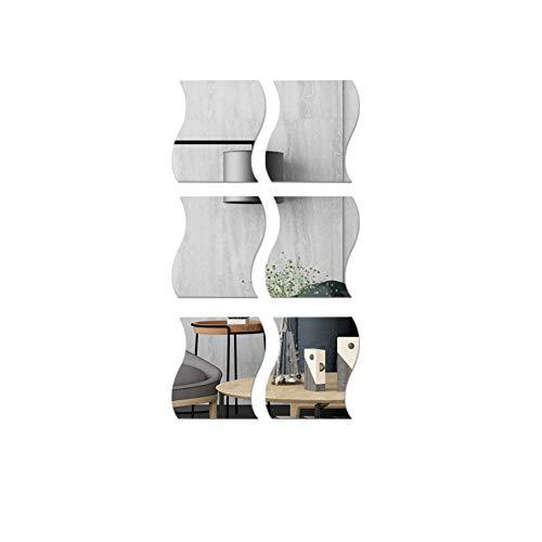 Kylewo DIY Tridimensional Forma de Onda Espejo Etiqueta de la Pared calcomanía decoración de la casa...