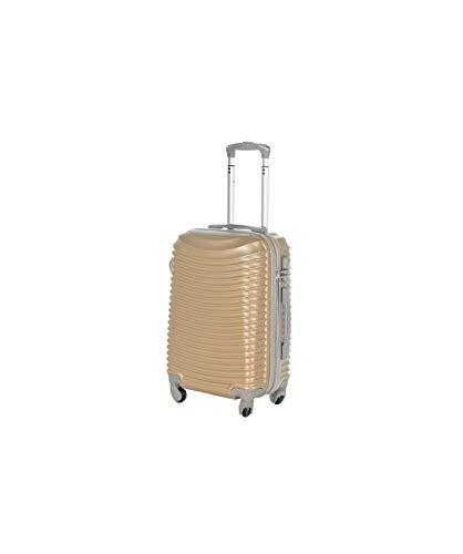 SLmilano Trolley valigia 55cm bagaglio a mano ABS 40L 2.4kg super leggera (oro)
